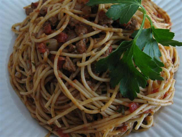 Spaghetti with Homemade Meat Sauce