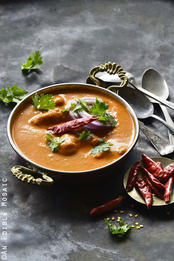 Front View of Indian Butter Chicken Recipe (Murgh Makhani)