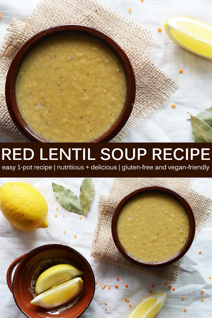 Red Lentil Soup Recipe Pin