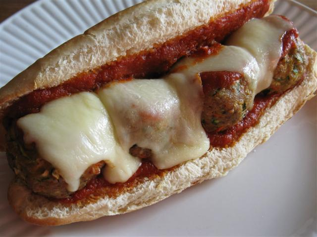 Turkey-Vegetable Meatball Bombers