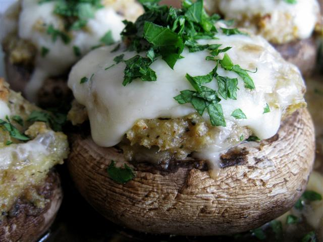 Three Cheese Stuffed Mushrooms