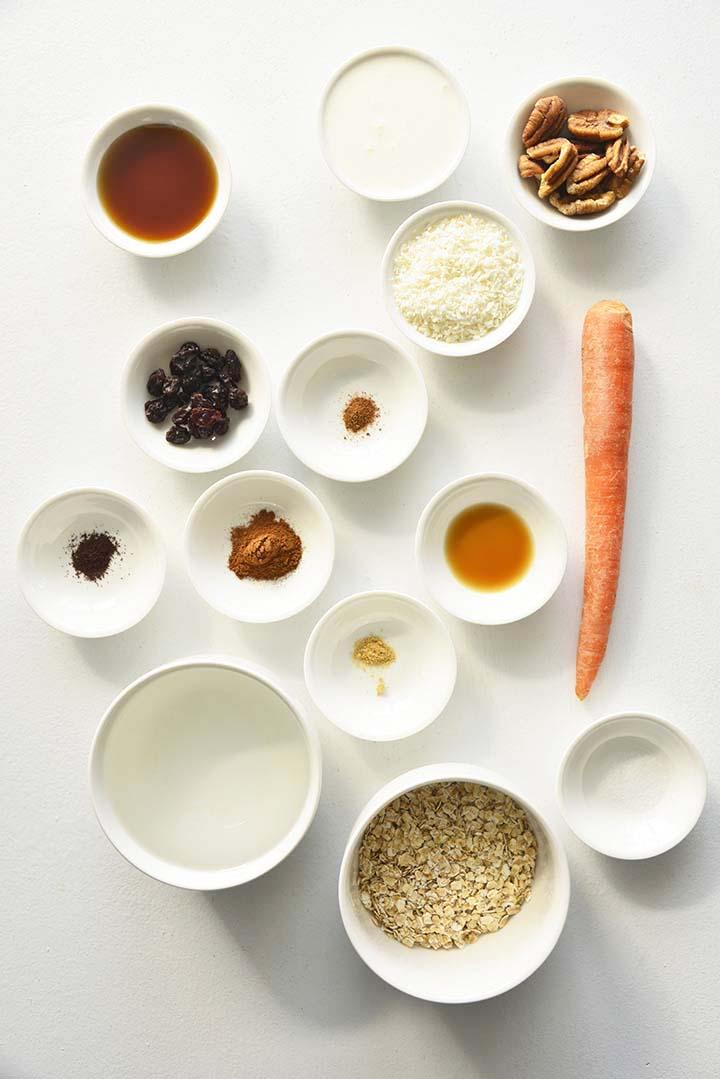 Carrot Cake Oatmeal Ingredients