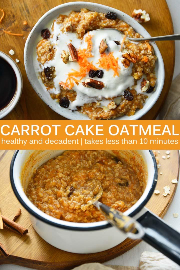 Carrot Cake Oatmeal Recipe Pin