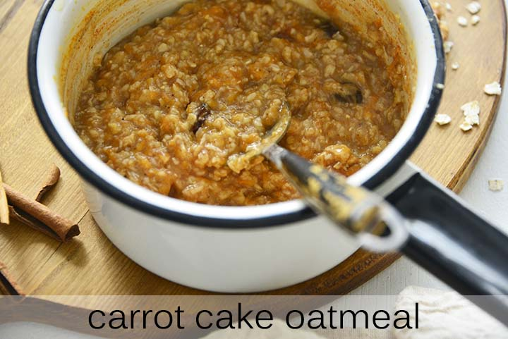 Carrot Cake Oatmeal with Description