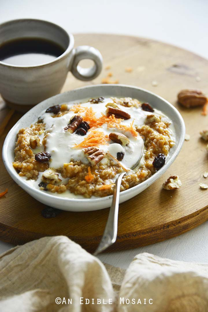 Front View of Carrot Cake Oats