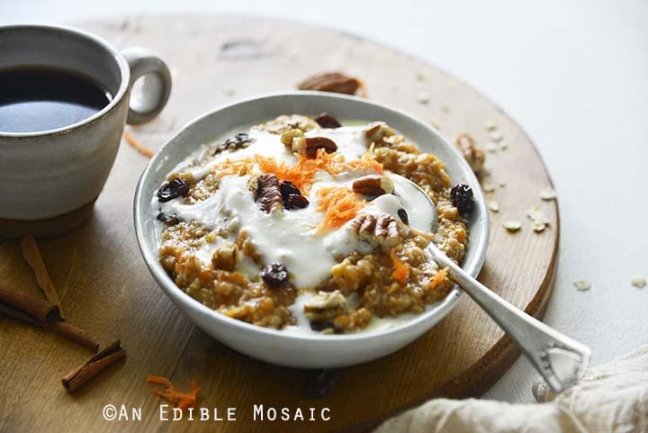 Stovetop Carrot Cake Oatmeal Recipe