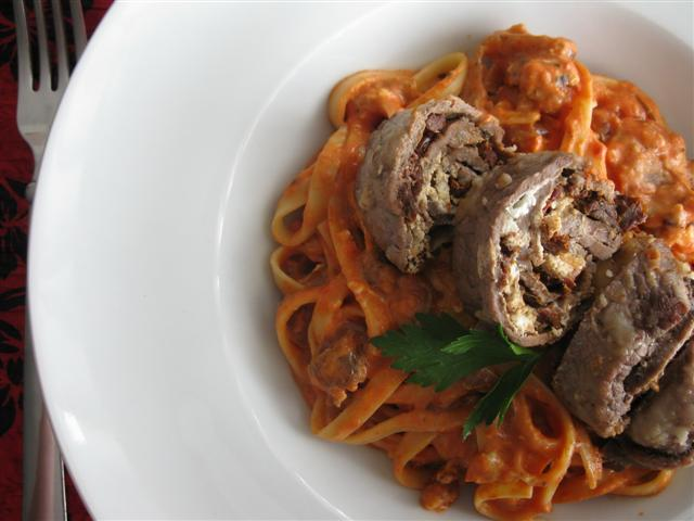 Valentine's Day Menu: Blush Pasta & Individual Beef Roulades