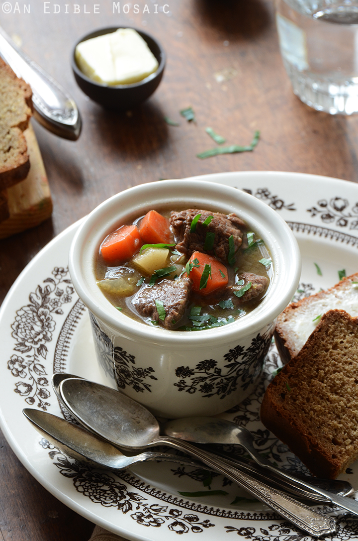 Guinness Beef Stew and Irish Brown Soda Bread 2