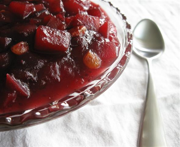 Easy Apple-Cranberry Chutney