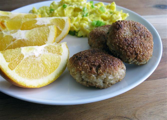 Vegetarian Sausage Patties — Christmas Brunch