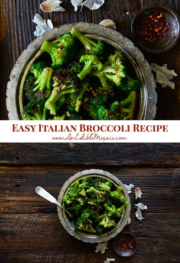 Easy Italian Broccoli Recipe Pin