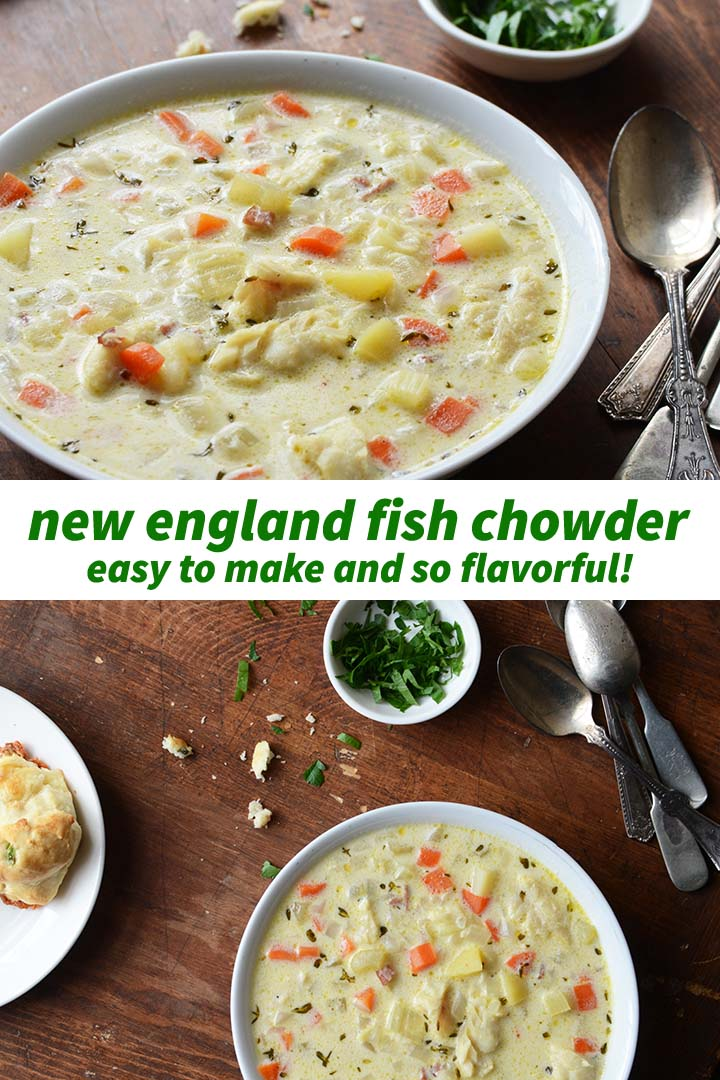 New England Fish Chowder Recipe Pin
