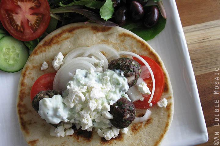 Kebab Meatballs Served Gyro-Style 2