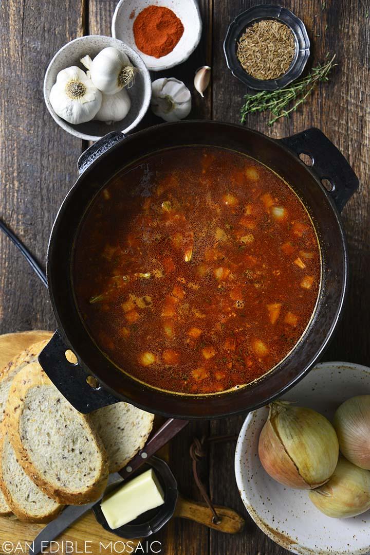 making german goulash soup