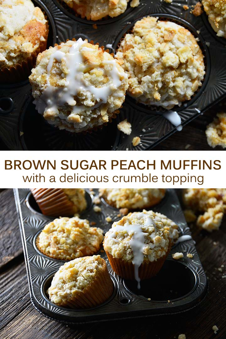 Brown Sugar Peach Muffins Recipe Pin
