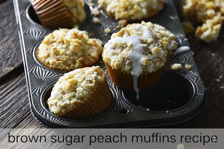 Brown Sugar Peach Muffins Recipe with Description