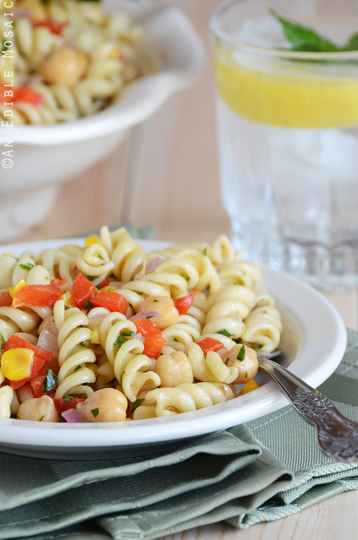 Succotash-Style Pasta Salad with Roasted Garlic Dressing 2