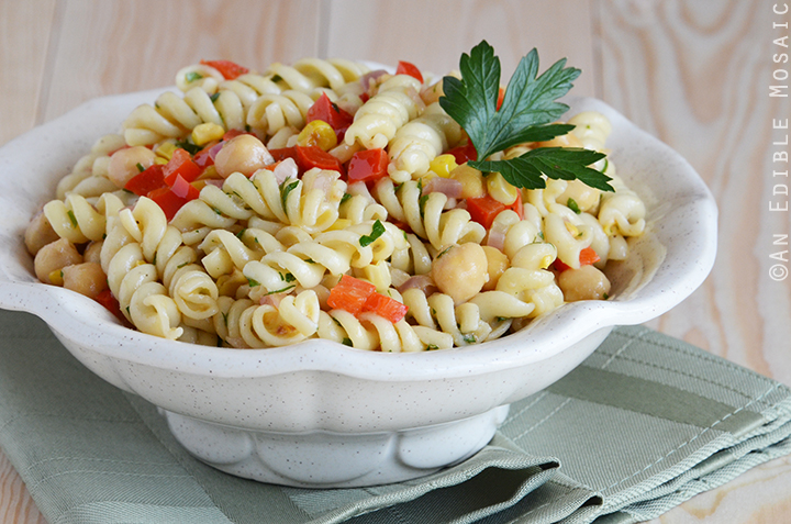 Succotash-Style Pasta Salad with Roasted Garlic Dressing 3