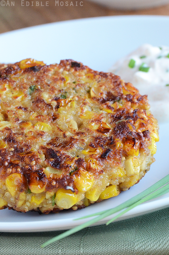 Quinoa Corn Patties with Cool and Creamy Onion Dip 2