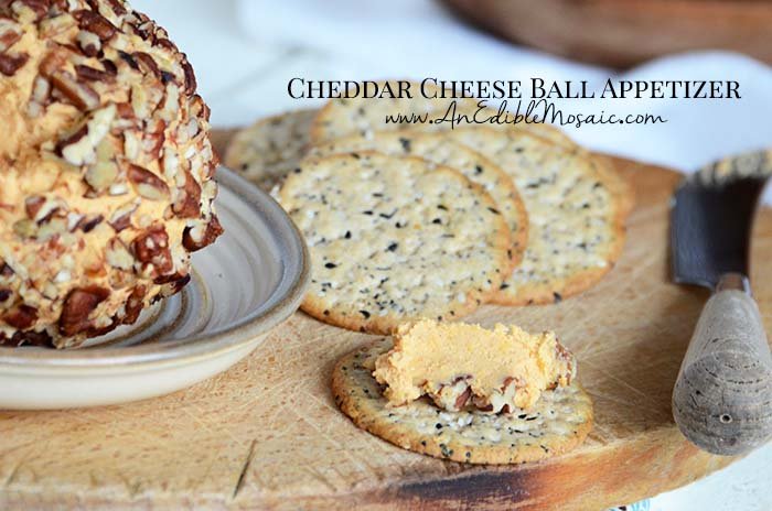 Cheddar Cheese Ball Appetizer with Description
