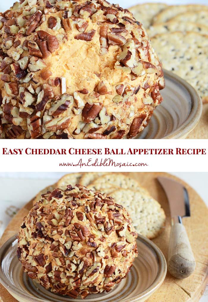 Easy Cheese Ball Recipe Pin