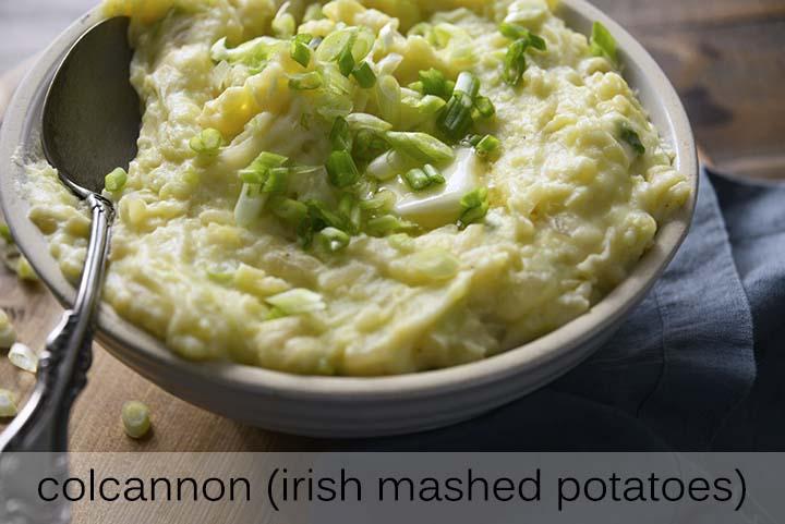 Irish Mashed Potatoes with Description