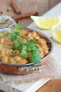 Pumpkin Chickpea Curry in Metal Dish