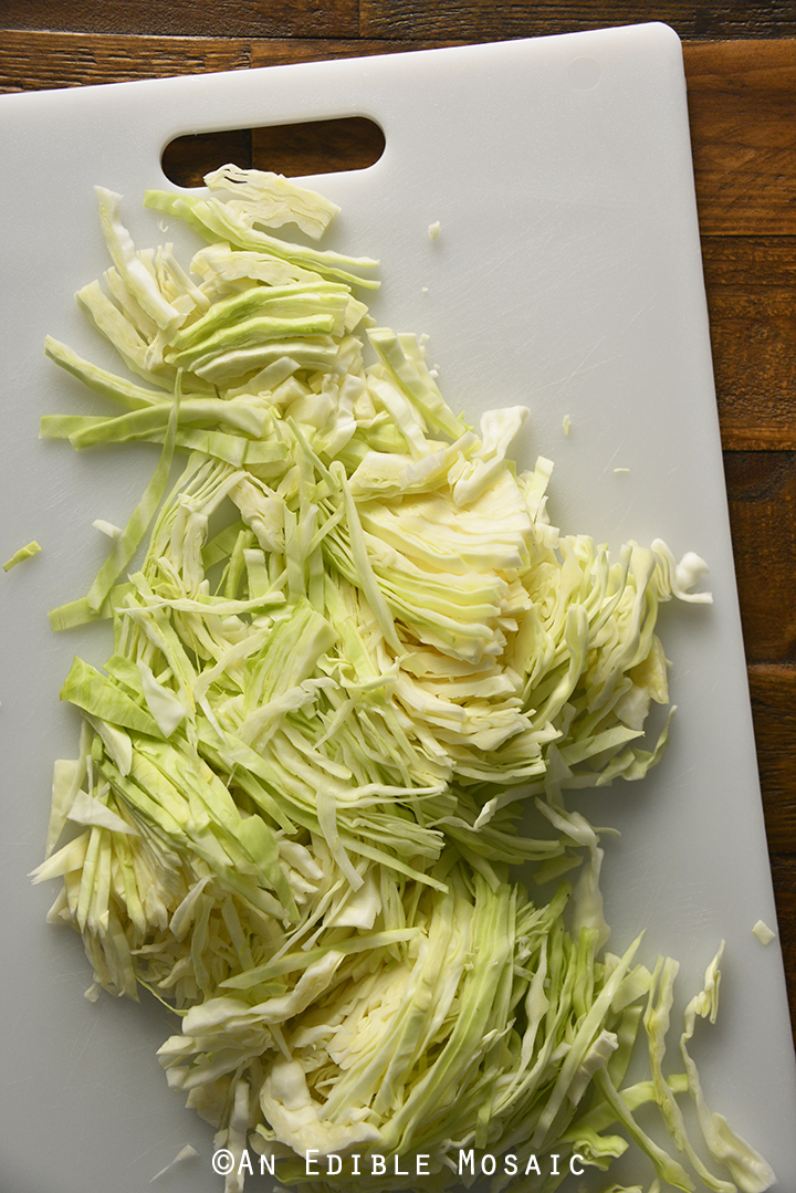 Thinly Sliced Cabbage