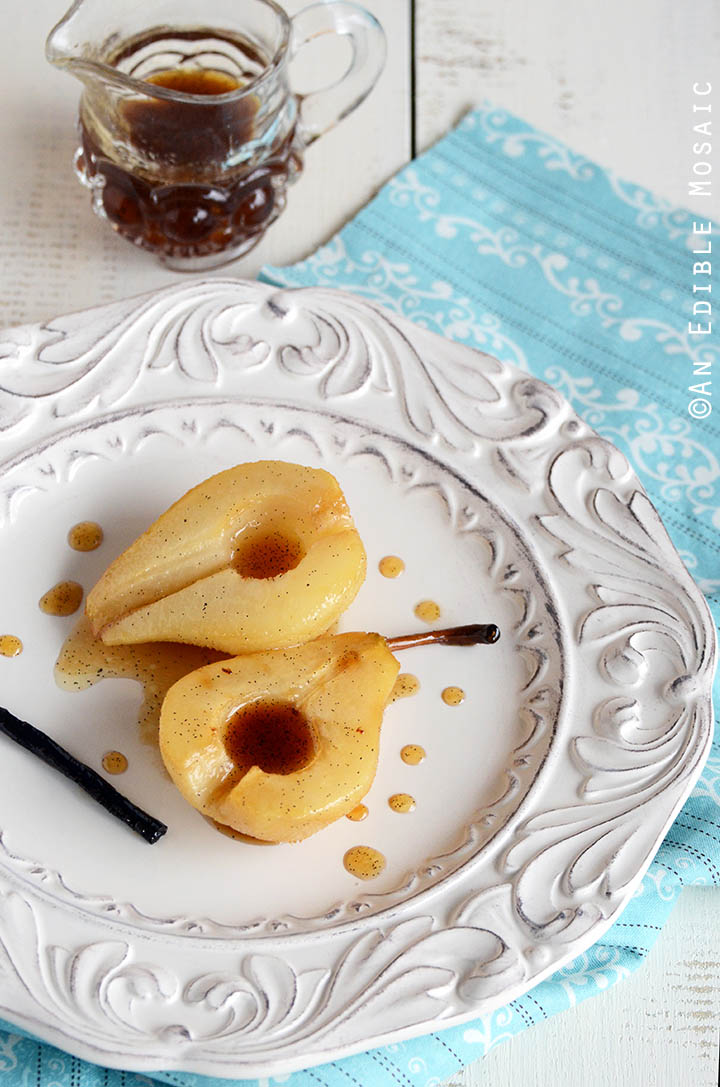 Vanilla Roasted Pears 1