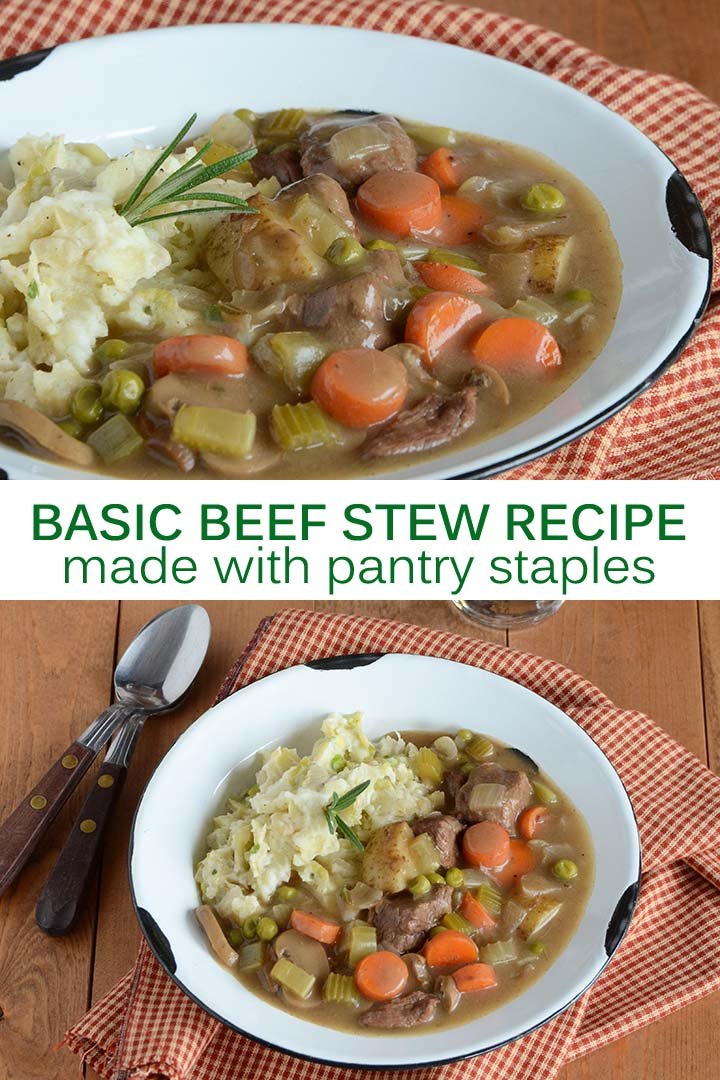 Basic Beef Stew Recipe Pin