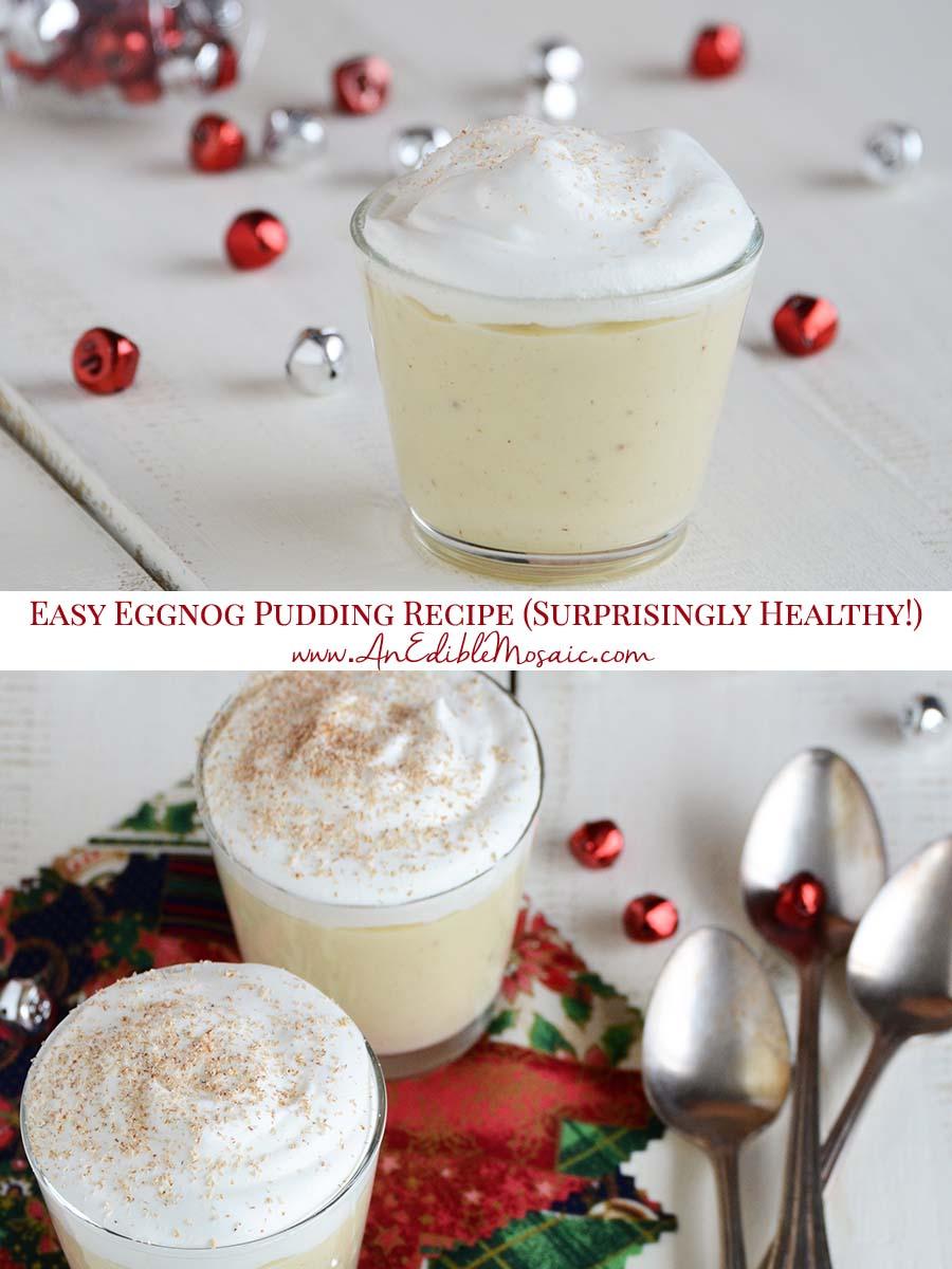 Easy Eggnog Pudding Recipe Pin