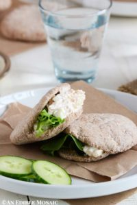 Canned Chicken Salad Recipe in Mini Pita Breads