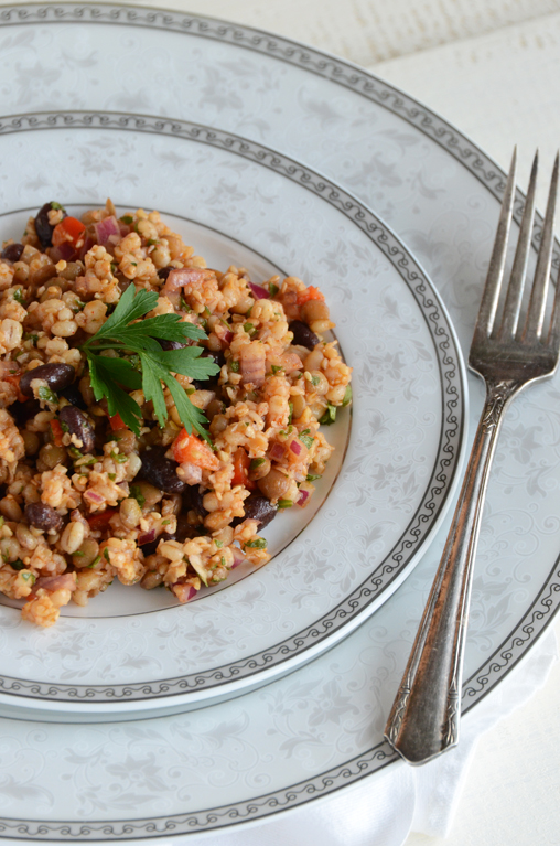 Bean and Barley Salad {Vegan}