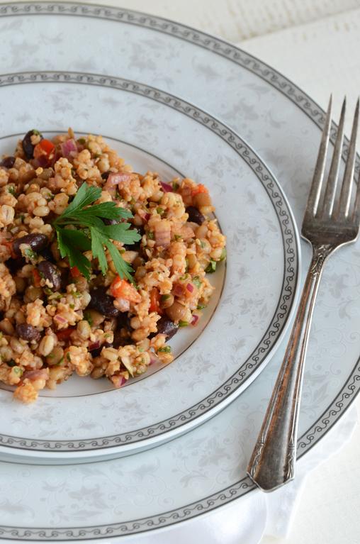 Bean and Barley Salad {Vegan}