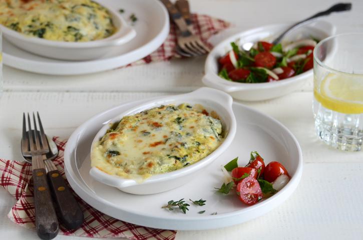 Spinach, Ricotta, & Portobello Gratins