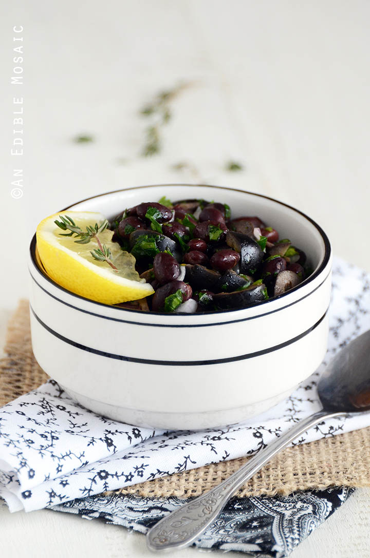 Lemony Olive and Black Bean Relish