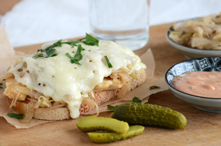 A Saucy New Healthier Reuben {And a Giveaway}
