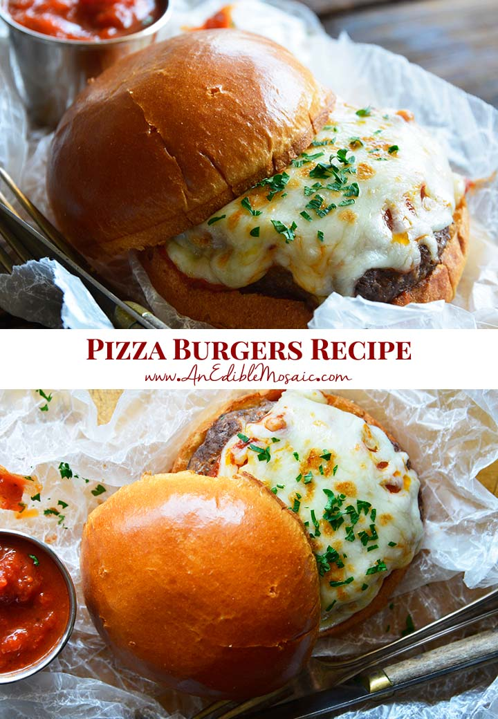 Pizza Burgers Recipe Pin