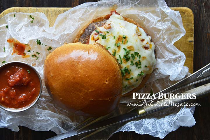 Pizza Burgers with Description