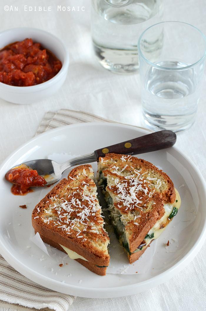 Spinach-Mozzarella Grilled Cheese