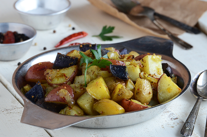 Indian-Spiced Roasted Potatoes 2