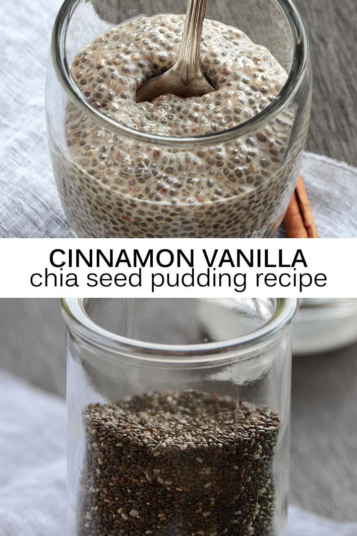 Cinnamon Vanilla Chia Seed Pudding Recipe Pin