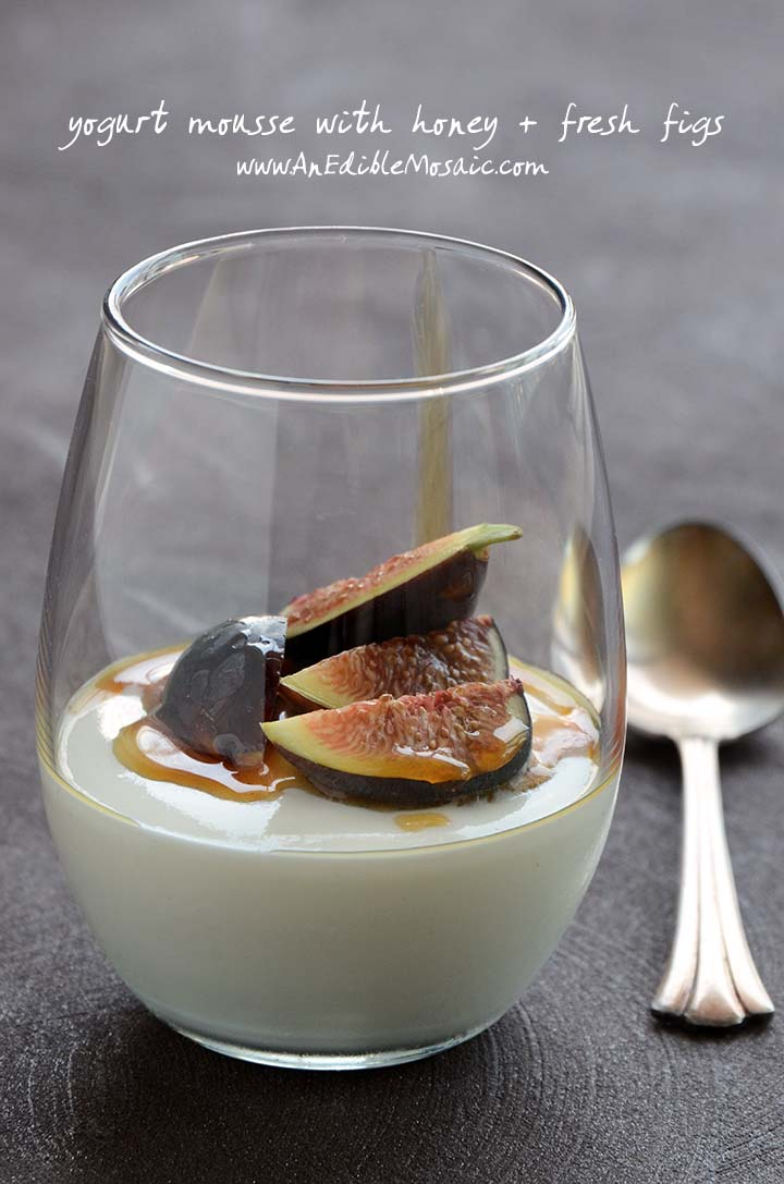 Yogurt Mousse with Honey and Fresh Figs Recipe with Description