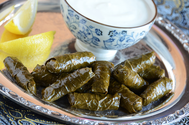The First Recipe From My Cookbook: Vegetarian Stuffed Grape Leaves