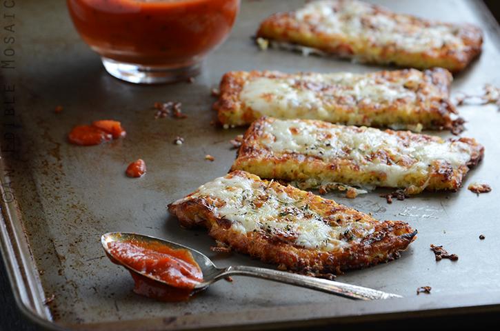 Cauliflower Crust Garlic Breadsticks 4