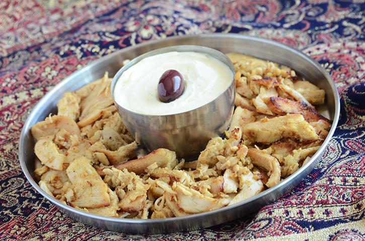 Spiced Shawarma Chicken Wraps {A Mid-East Feast}