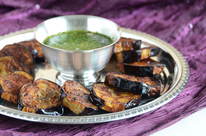 Fried Eggplant with Garlic and Parsley Dressing (And a Giveaway of My Cookbook!)