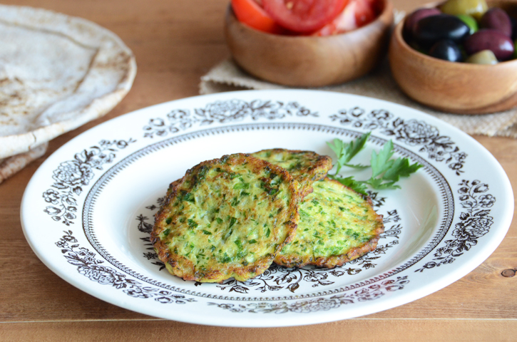 Zucchini Fritters {A Mid-East Feast}