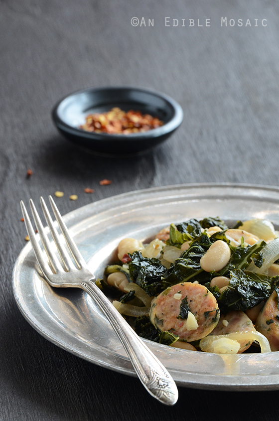 Sautéed Kale with Sausage and White Beans 2