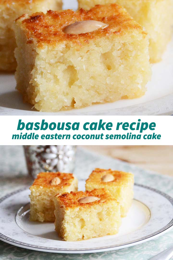 Basbousa Cake Recipe Pin